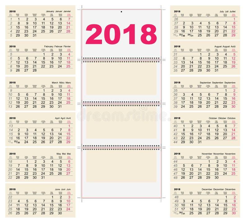 calendar format 2018