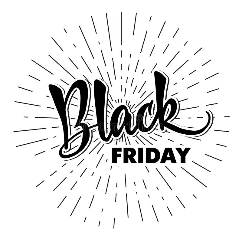 Template of handlettering Black Friday. Modern calligraphy. For royalty free illustration