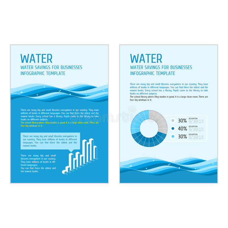 Template infographic water stock illustration