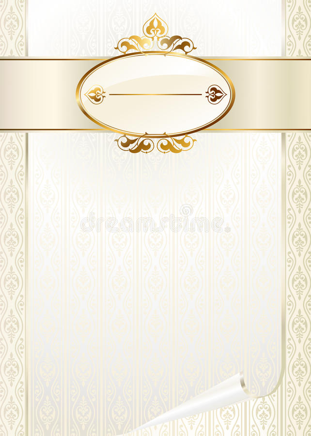 template for invitation card stock vector illustration of crown