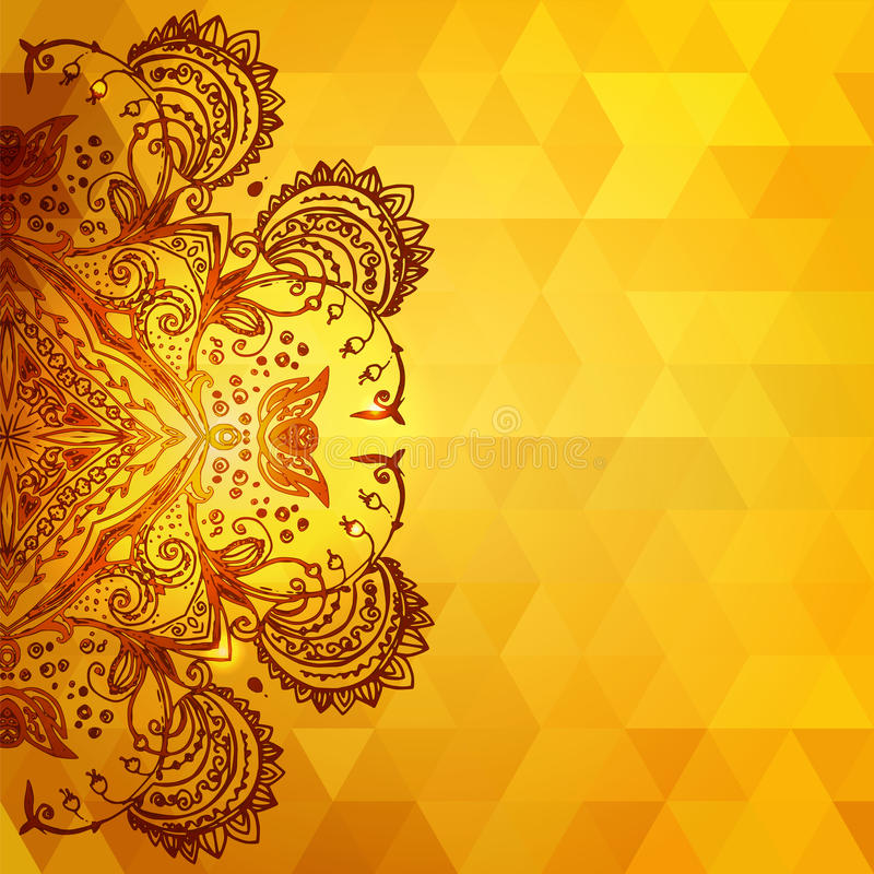 Template for invitation card background, gold royalty free illustration