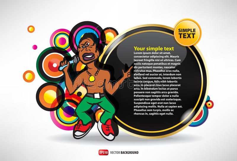 Template Invitation to the rap party royalty free illustration