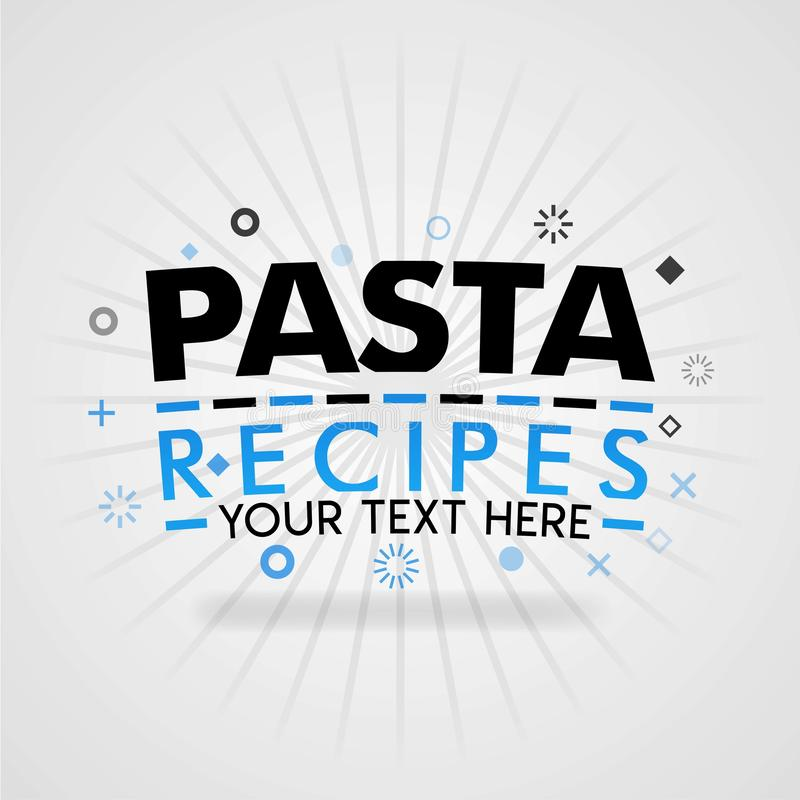 Template for italian pasta food blue poster. for promotion, advertising, marketing. Can be for textbook cover magazine, culinary w. Ebsites, foodie site royalty free illustration