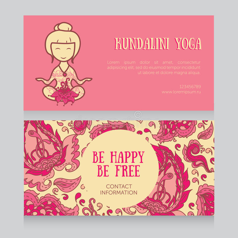 Template for kundalini yoga studio business card stock vector download template for kundalini yoga studio business card stock vector illustration of floral asia stopboris Gallery