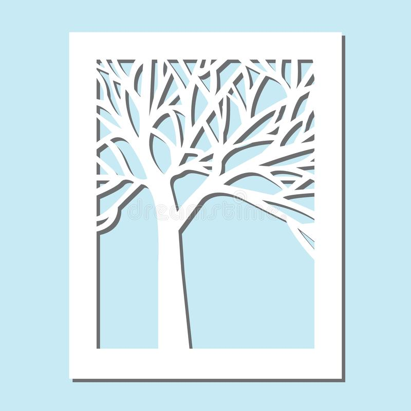 Template for laser cutting and Plotter. Flowers, leaves for decoration. Vector illustration, plotter and screen printing,. Serigraphy vector illustration