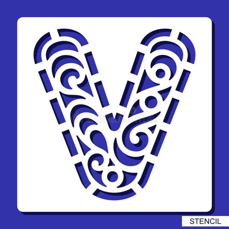 Stencil alphabet lacy letter v stock illustration illustration download stencil alphabet lacy letter v stock illustration illustration of lettering spiritdancerdesigns Choice Image