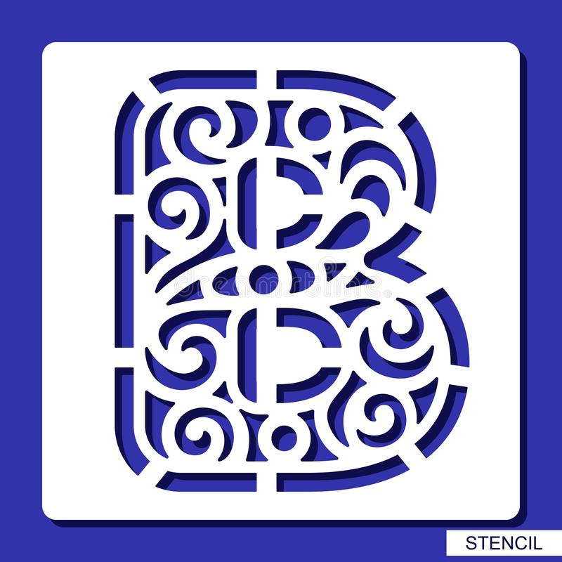 Stencil lacy letter b stock vector illustration of elements download stencil lacy letter b stock vector illustration of elements 118045983 spiritdancerdesigns Choice Image