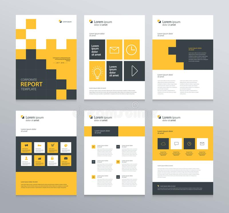 Template Layout Design With Cover Page For Company Profile Annual - Unique company profile presentation template ideas