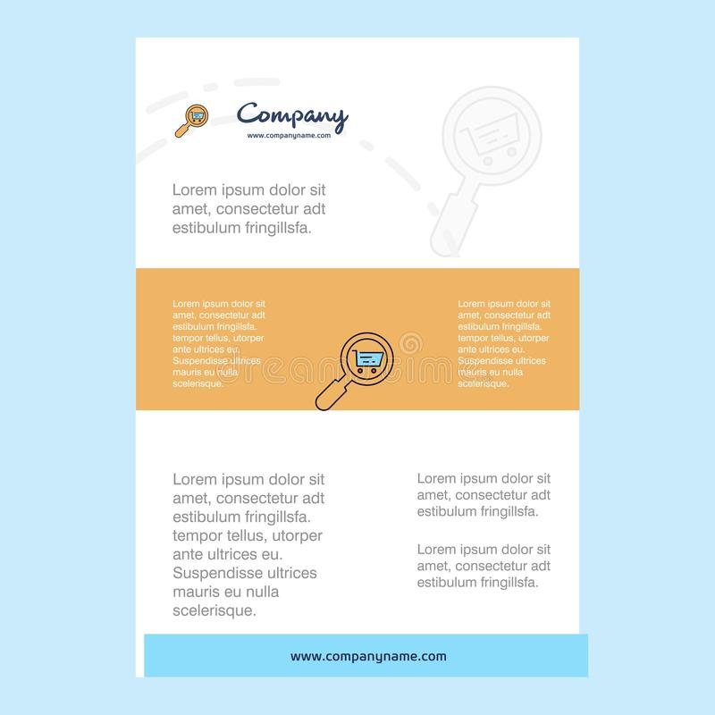 Online Shopping Infographics Leaflet Stock Vector