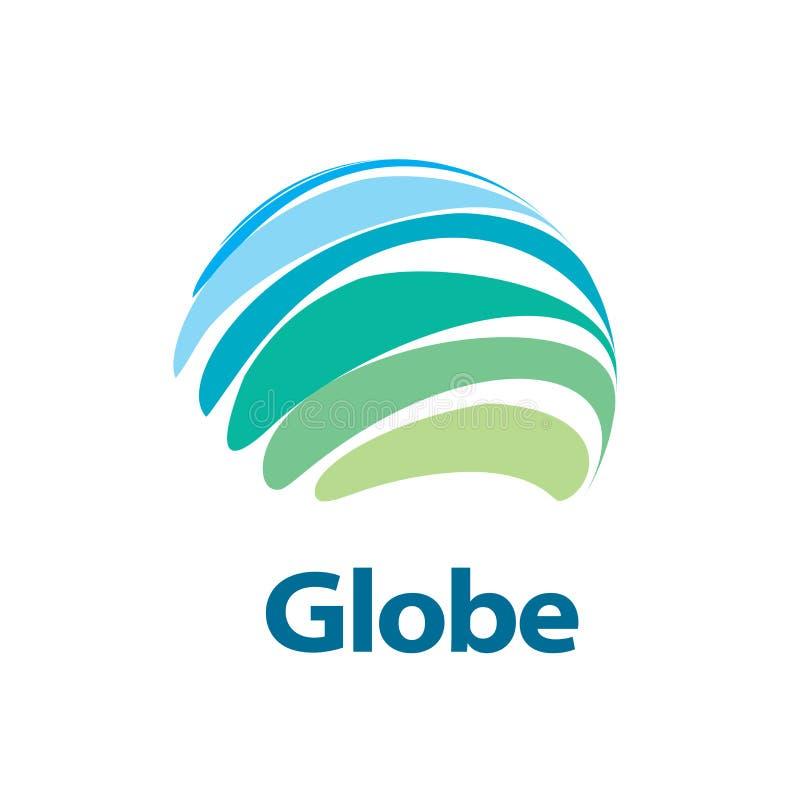 Vector logo globe. Template logo design globe. Vector illustration icon royalty free illustration