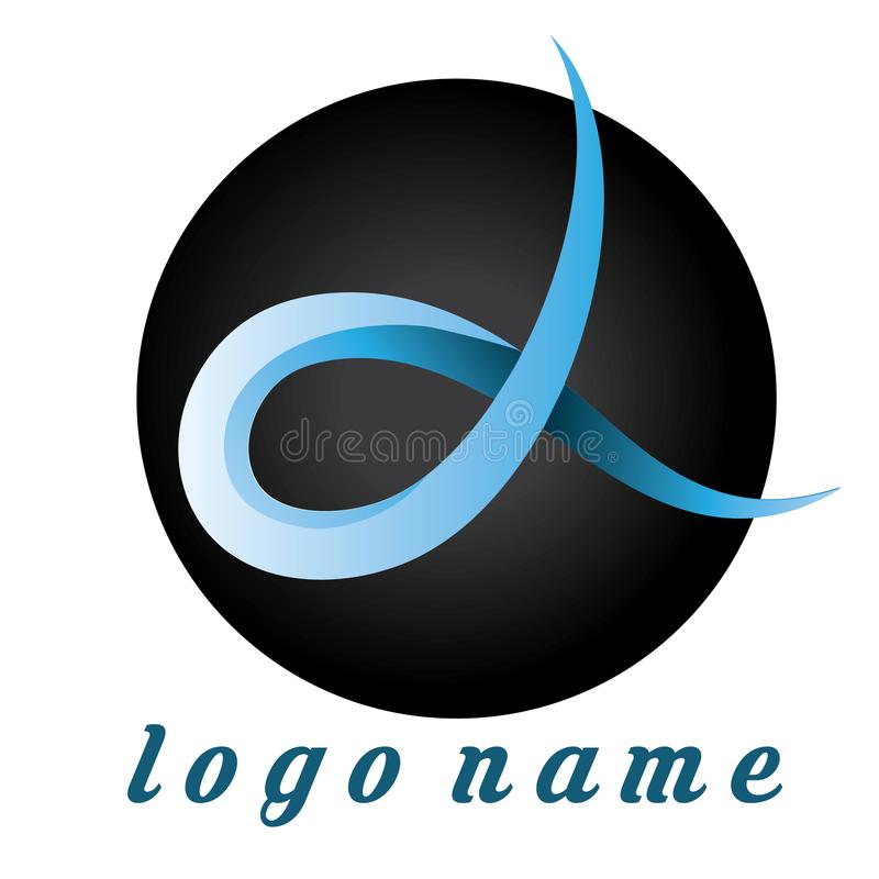 Logo Alfa Gradient Blue - Template Logo for company or store optcal. Template Logo Design. Good for logo your business or your company. Red and white. Editable royalty free illustration