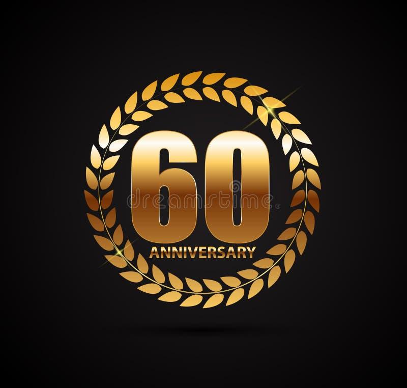 Template Logo 60 Years Anniversary Vector Illustration. EPS10 vector illustration