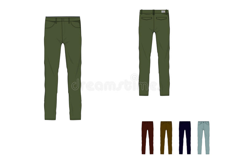 Template of man long fitted pant design vector illustration