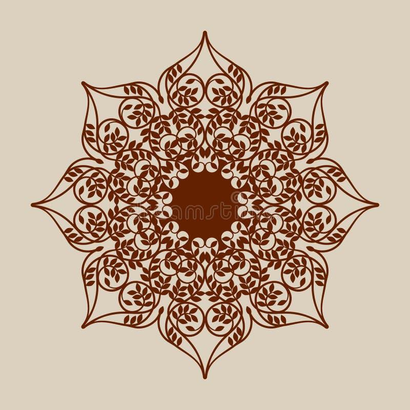 The Template Mandala Pattern For Decorative Rosette Stock Vector ...