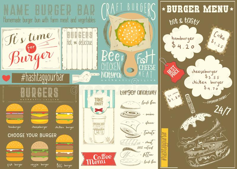 Burger House Template Or Flyer Design With Fast Food