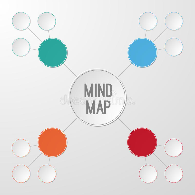 Template of mind map infographic royalty free illustration