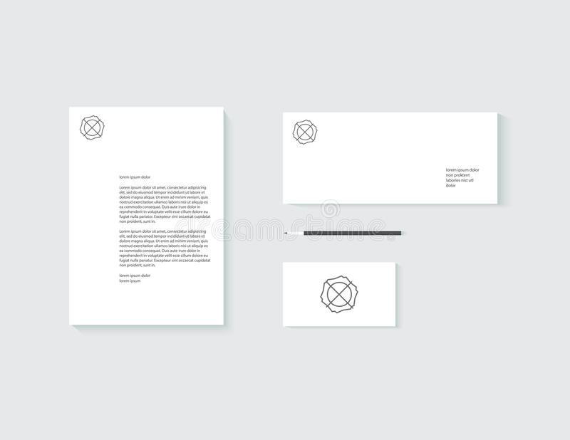 Template mock up for corporate identity stock images