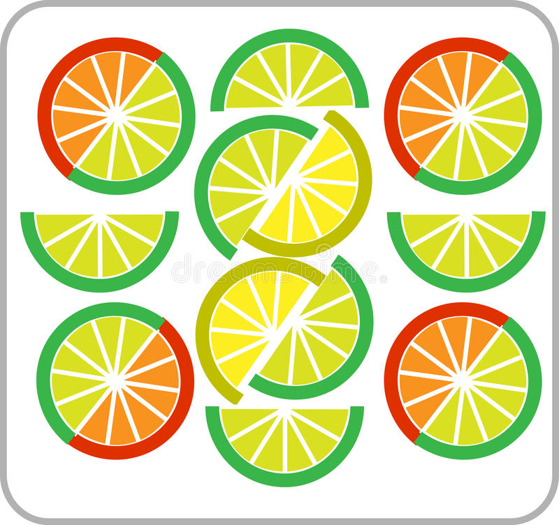Free Template Of Sliced Lemon And Orange -2 Royalty Free Stock Photography - 14980127