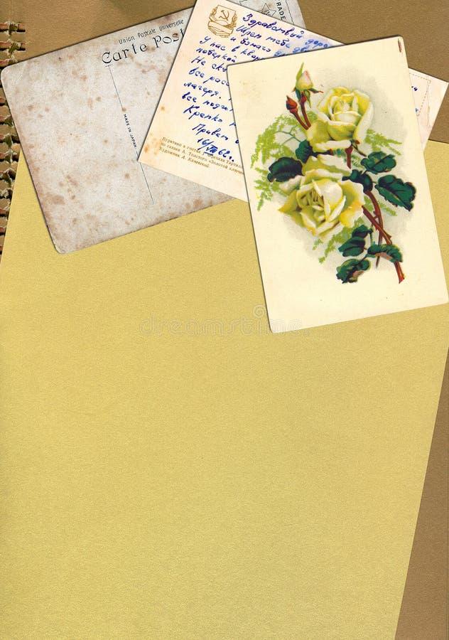 template an old letter stock illustration illustration