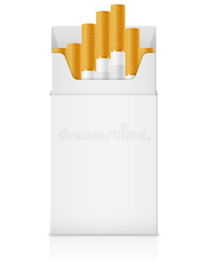 template pack of cigarettes with yellow filter stock vector illu