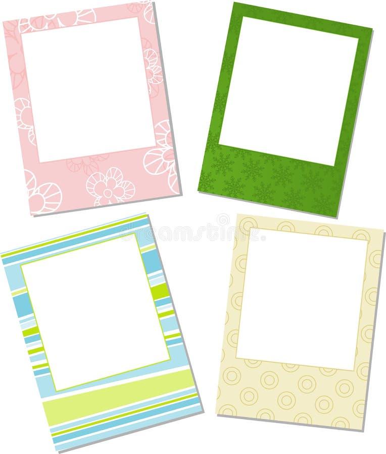 Template photo frames stock illustration