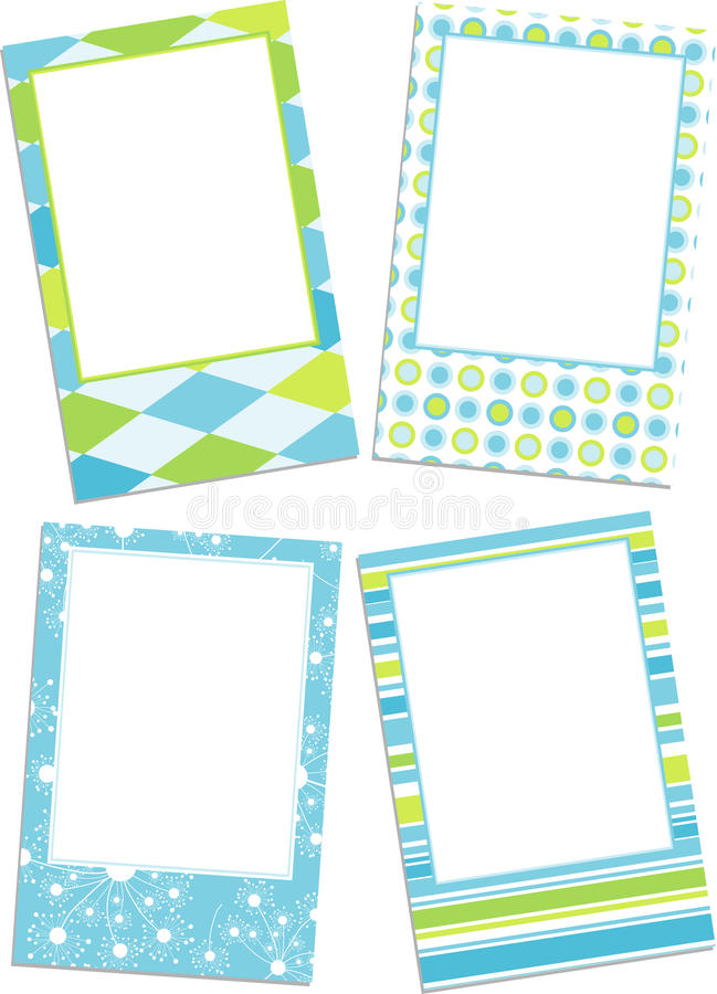 Template photo frames royalty free illustration