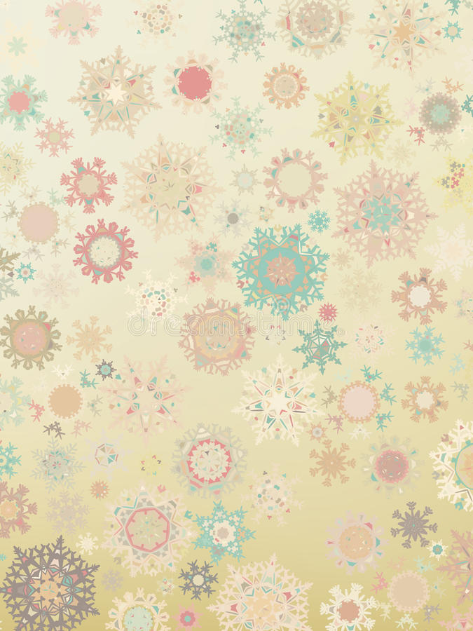 Download Template Retro Snowflakes Background. EPS 8 Stock Vector - Image: 26623920