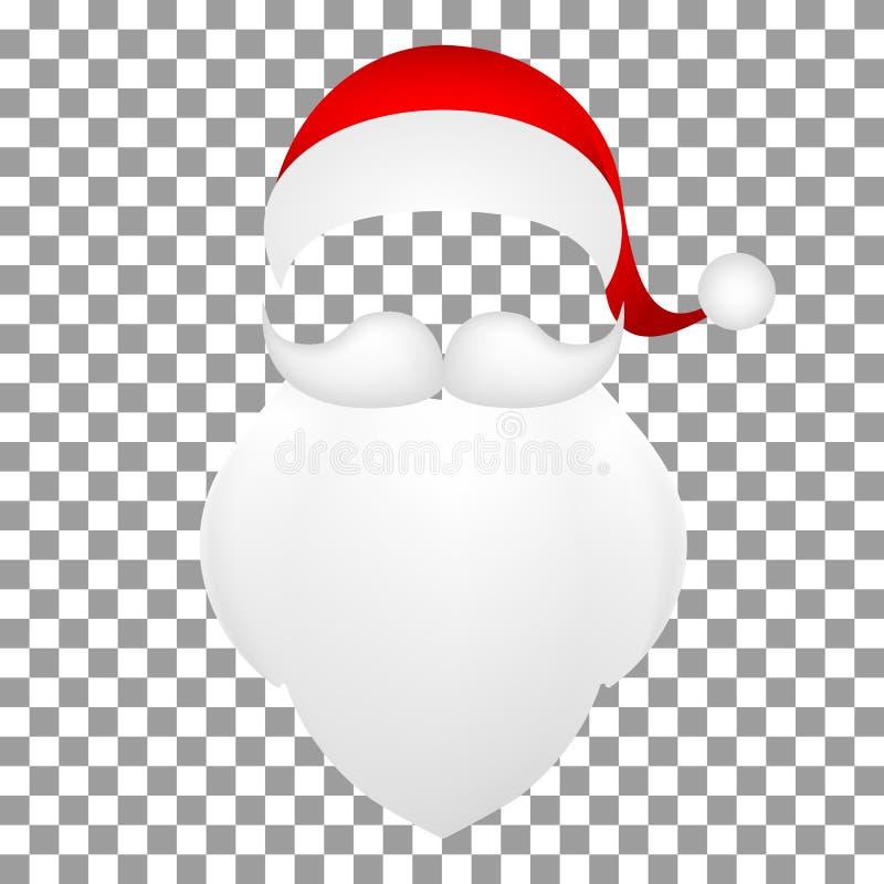 Template Santa Claus His Mustache With A Beard Stock Vector