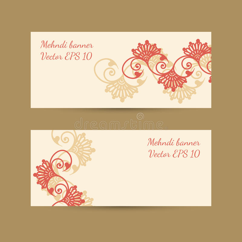 Template set with bright decorative mehndi design for banners stock template set with bright decorative mehndi design for banners business or gift cards invitations vector eps 10 stopboris Images