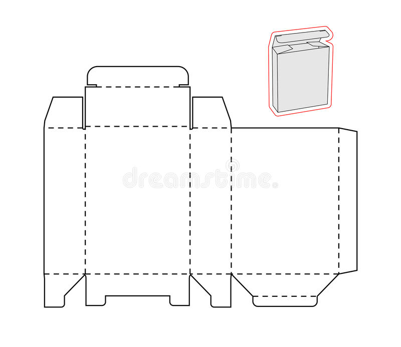 template of a simple box  cut out paper or cardboard stock