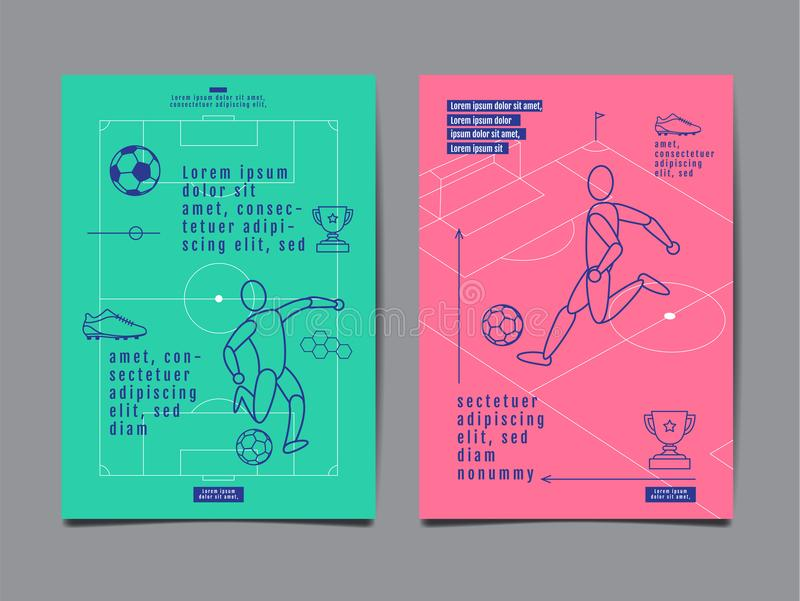 Template Sport Layout Design, Flat Design, Graphic Illustration, Football, Soccer, Vector Illustration. vector illustration