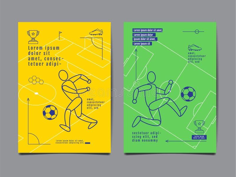 Template Sport Layout Design, Flat Design, single line, Graphic royalty free illustration