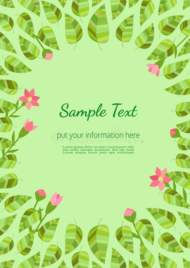 Template Spring Flyer Stock Vector Illustration Of Flat 111429380