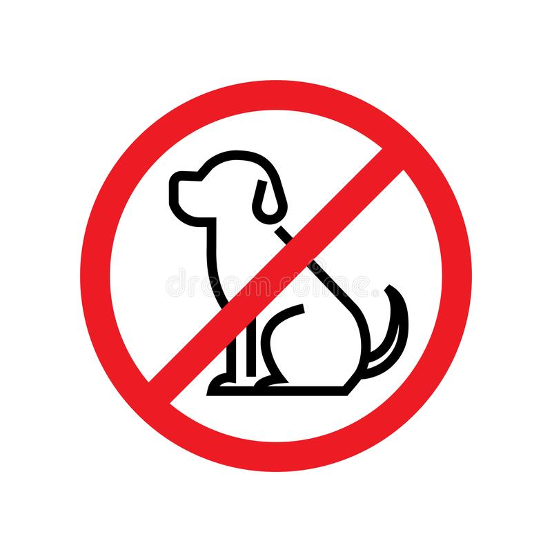 No dogs allowed. Dog prohibition sign. Vector illustration stock illustration