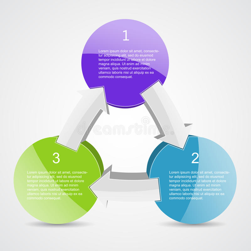 Business project with arrows and text areas stock illustration