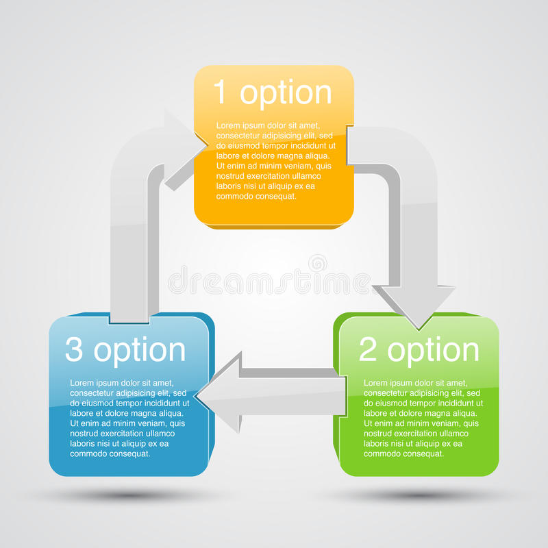 Business project with arrows and text areas vector illustration