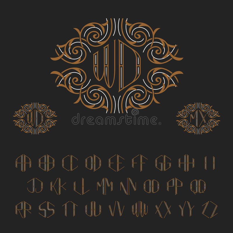 Template for two letters monogram set of vector letters from a to z download template for two letters monogram set of vector letters from a to z spiritdancerdesigns Image collections