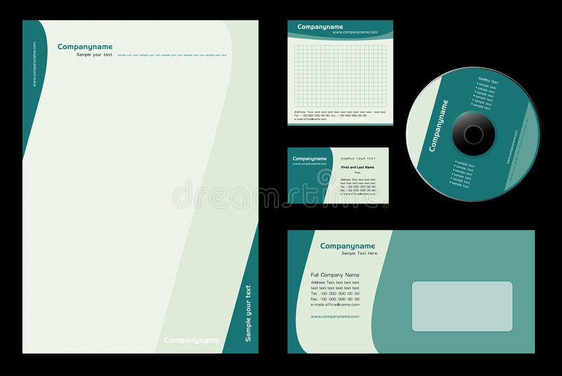 Template Vector royalty free illustration