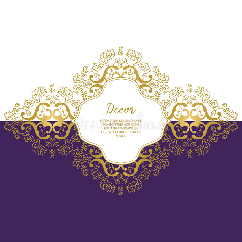 Template Vector decorative frame. royalty free stock photography