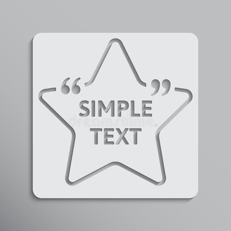 Template vector quote. Star with bracket. Empty. vector illustration