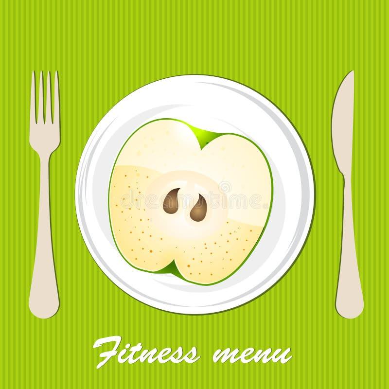 Template Of A Vegetarian Menu Royalty Free Stock Images