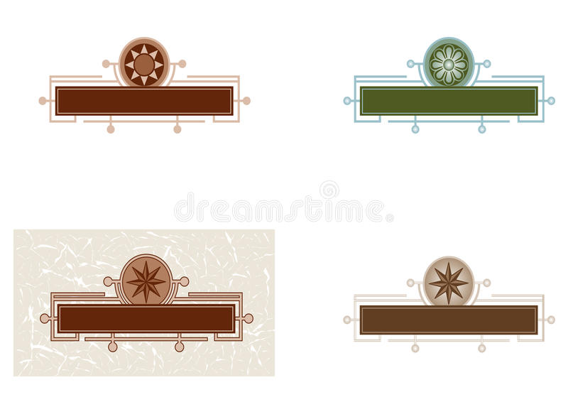 Template Of Vintage Logo Royalty Free Stock Photography
