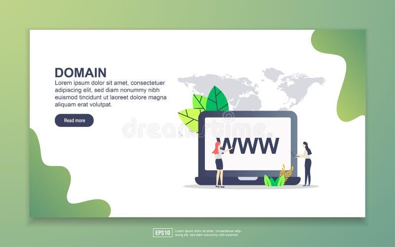Template voor landingspagina van het domein Moderne platte ontwerpopzet van webpagina's voor website en mobiele website Eenvoudig vector illustratie