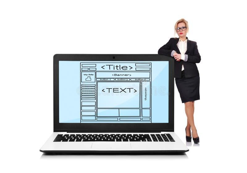 Template website stock photos