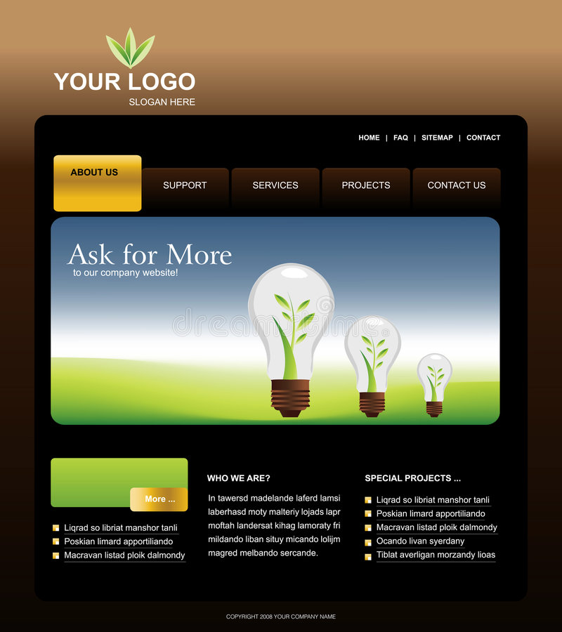 template website бесплатная иллюстрация