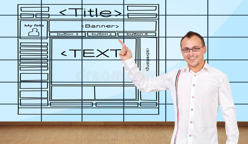 Template Website Royalty Free Stock Photo