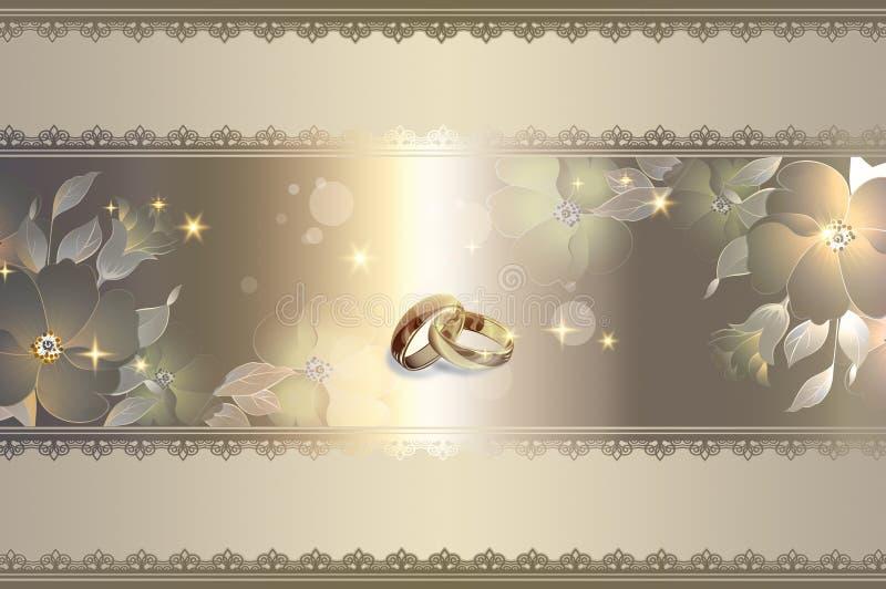 Template of wedding invitation card. royalty free illustration
