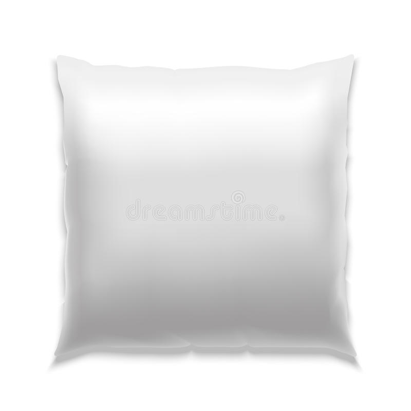 Template White Blank Pillow. Vector. Template White Blank Realistic Square Pillow to Sleep . Empty Mock Up. Vector illustration vector illustration