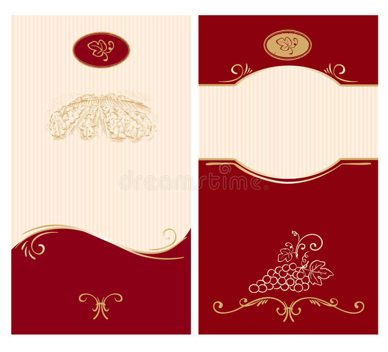 template for wine labels stock vector illustration of beverage 18172647. Black Bedroom Furniture Sets. Home Design Ideas