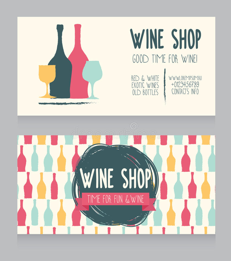 Template For Wine Shop Business Card Stock Vector - Image: 75171330